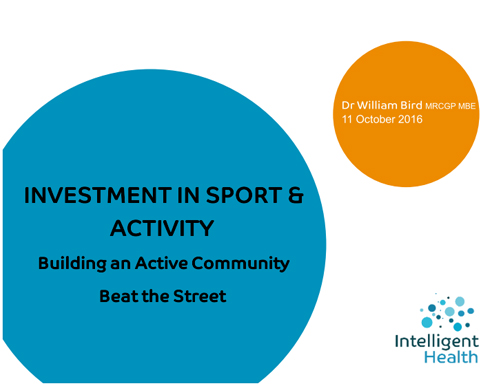 Dr William Bird Investment in Sport 2016