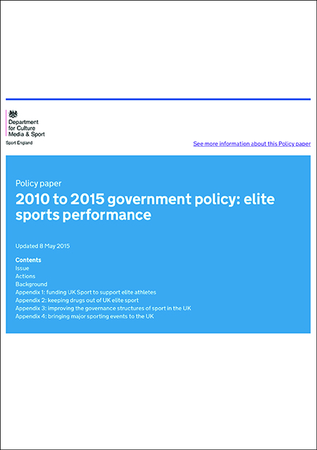 DCMS Elite Sport Performance